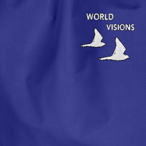World Visions Birds Logo White - Drawstring Bag