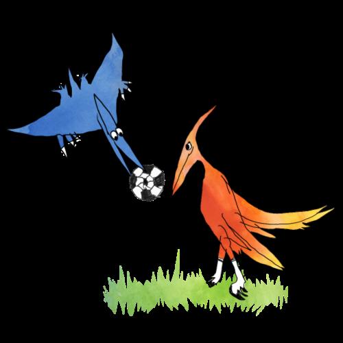 Fussball-Dino: Team Pteranodon - Turnbeutel