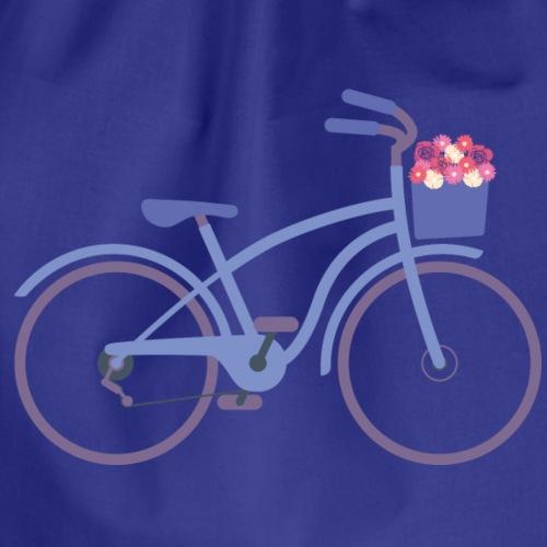 Fahrrad Blumen - Turnbeutel