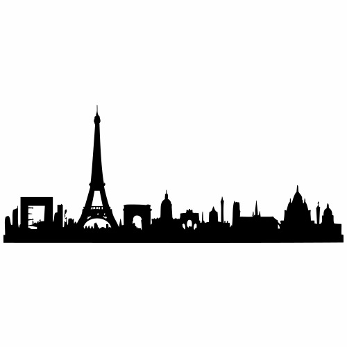 Paris Skyline - Turnbeutel