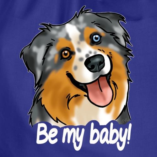 Berger australien Be my baby! (texte blanc) - Sac de sport léger