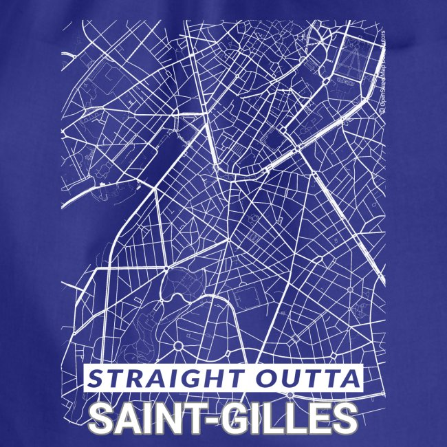 Straight Outta Saint-Gilles city map and streets