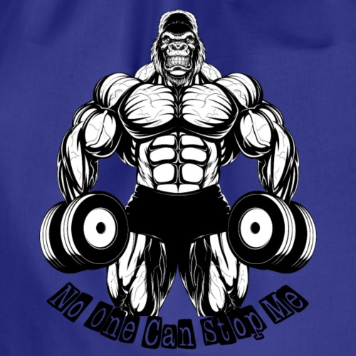 gym t-shirt (no one can stop me) - Turnbeutel