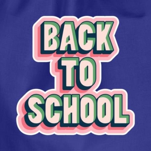 back to school - Drawstring Bag