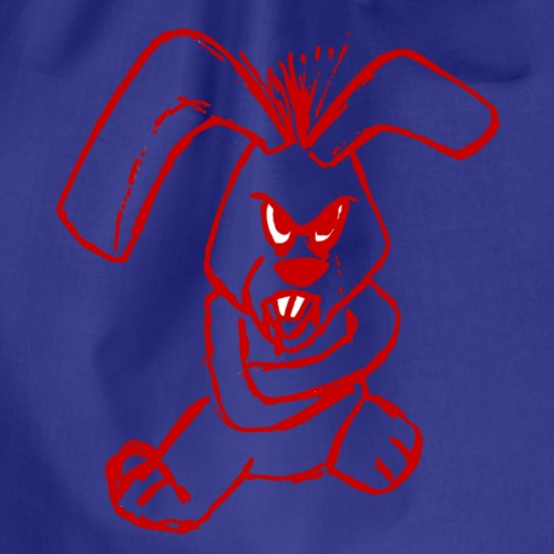 Böser Hase Rot - Turnbeutel