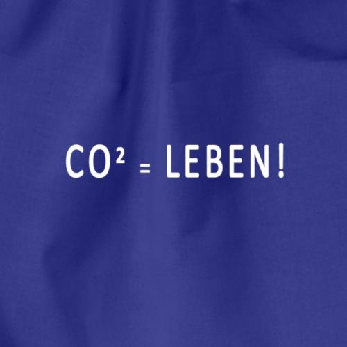 CO² = Leben! White - Turnbeutel