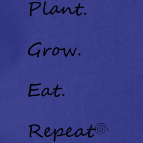 Plant Grow Eat Repeat: kleine Schrift - Turnbeutel