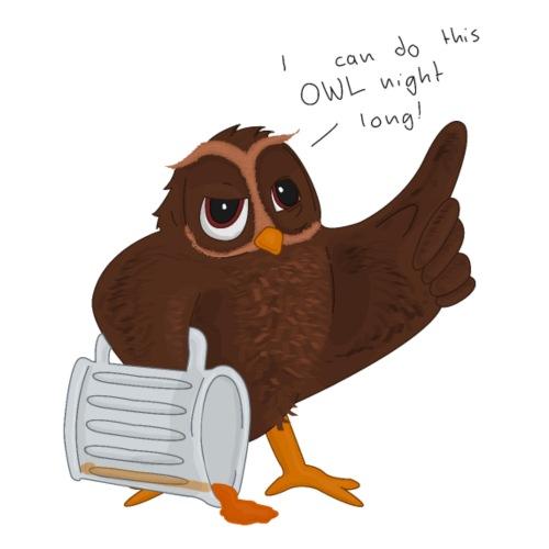 Owl Night Long - Drawstring Bag