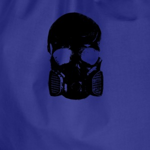 anti gas skull - Drawstring Bag