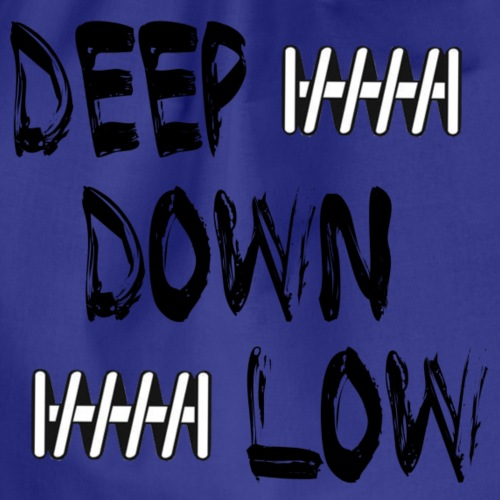 Deep Down Low schwarz - Turnbeutel
