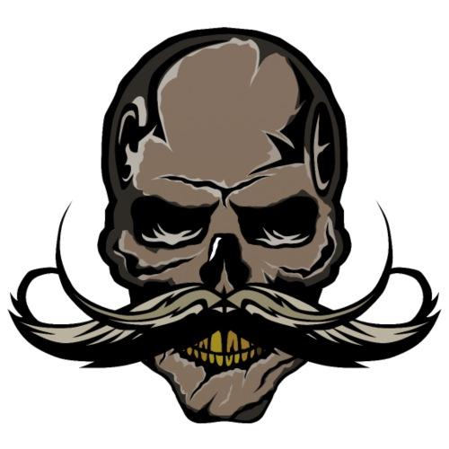 tete de mort crane skull hipster moustache moustac - Sac de sport léger