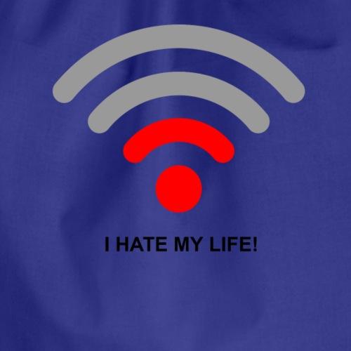 I hate my life - Drawstring Bag