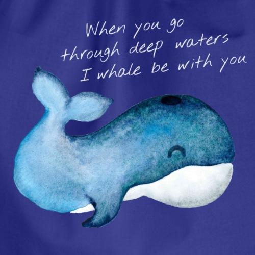 Whale deep waters - Turnbeutel