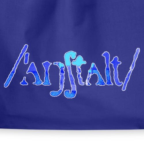 /'angstalt/ logo gerastert (blau/weiss) - Turnbeutel