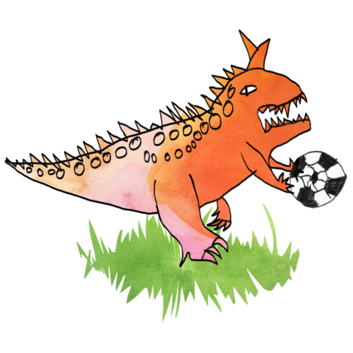 Fussball-Dino: das Handspiel - Turnbeutel