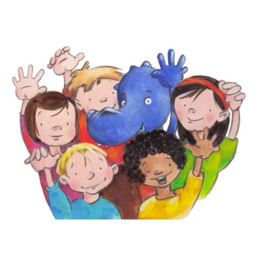 Drache Siggi und Kinder - Turnbeutel