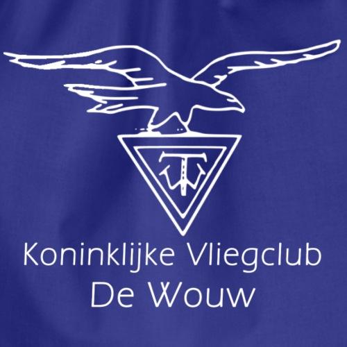 De Wouw Logo Klassiek Wit - Gymtas