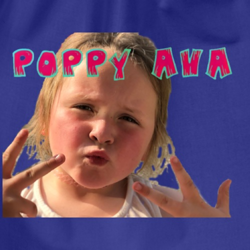 Poppy Ava pose - Drawstring Bag