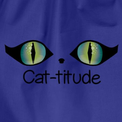 Cat-titude - Drawstring Bag