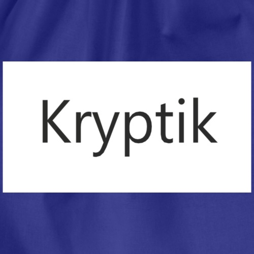 Kryptik Weiß Design - Turnbeutel