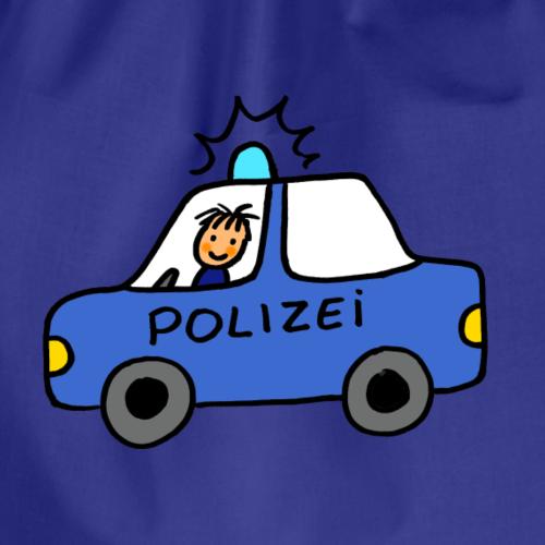 Handgemaltes, cooles Polizeiauto für Jungs - Turnbeutel