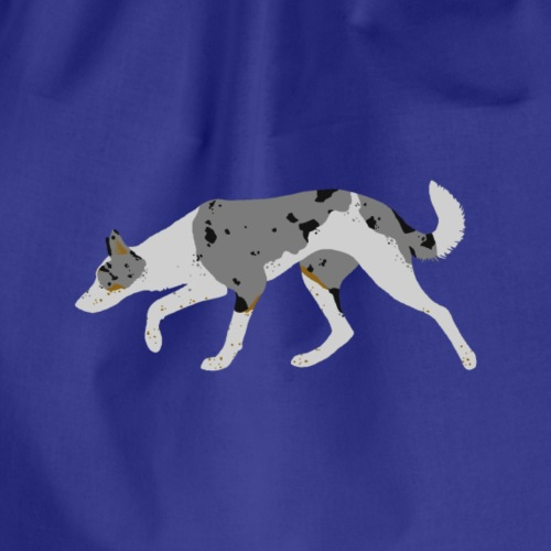 Border Collie (Blue Merle Tri) - Drawstring Bag