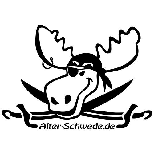 Alter Schwede Pirat - Turnbeutel