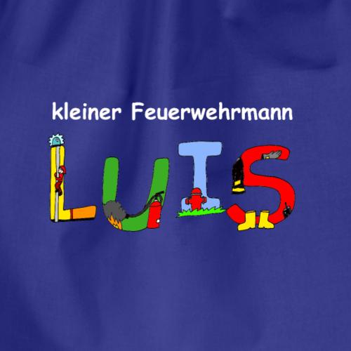Luis - individuelles Feuerwehr Motiv mit Namen - Turnbeutel