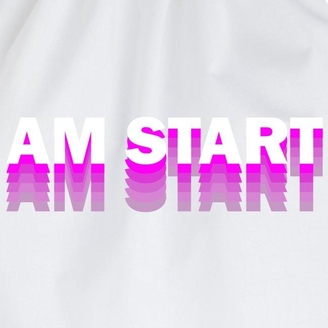 am Start - pink weiß faded