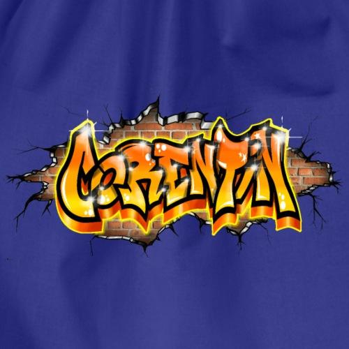 Graffiti Name Corentin On Wall by Max le Tagueur - Sac de sport léger