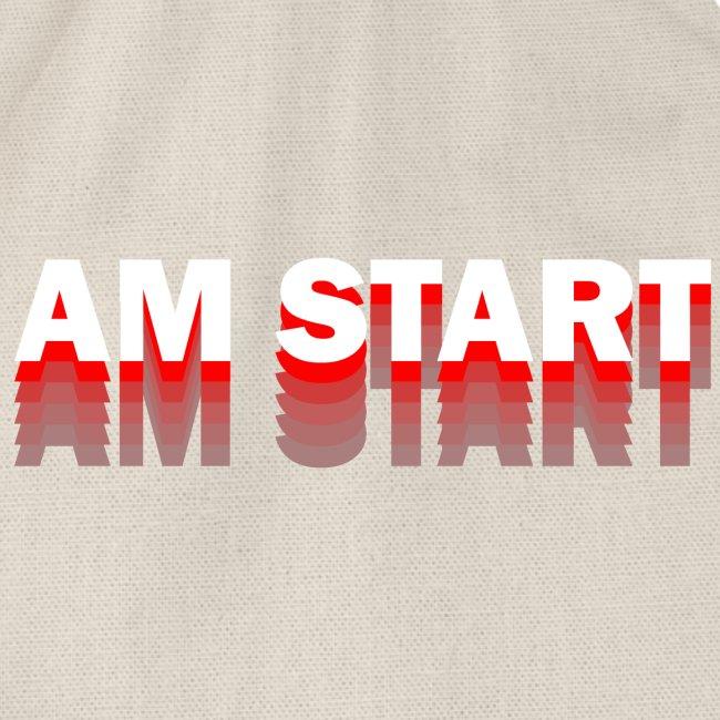 am Start - rot weiß faded