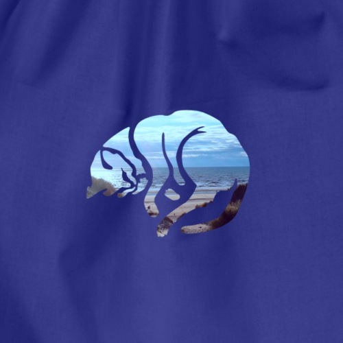 BEACH CAT - Drawstring Bag