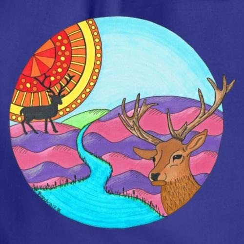Scottish Stag Colour 1 - Drawstring Bag