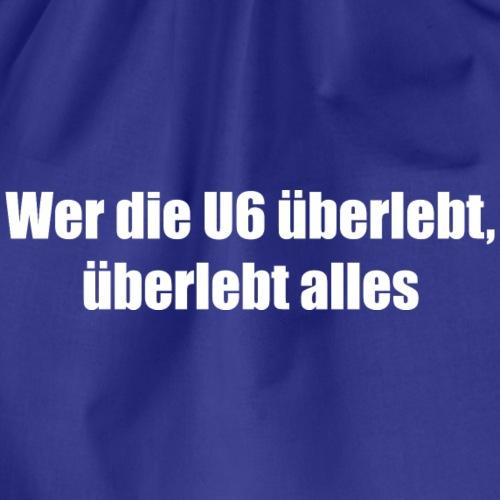 u6 weiss - Turnbeutel