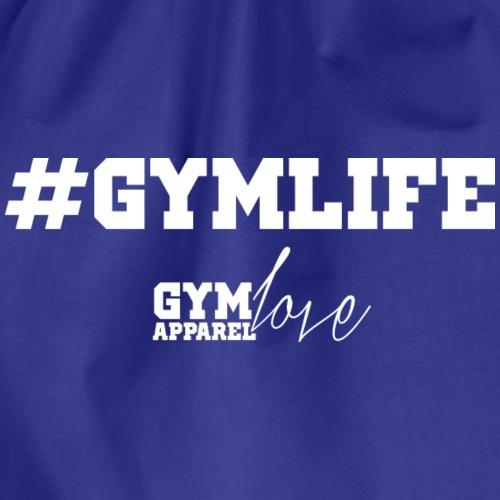 Hashtag Gymlife White - Turnbeutel