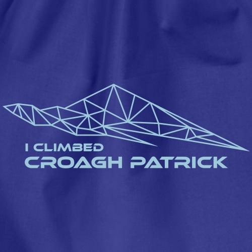 I climbed Croagh Patrick Geometric Design - Drawstring Bag