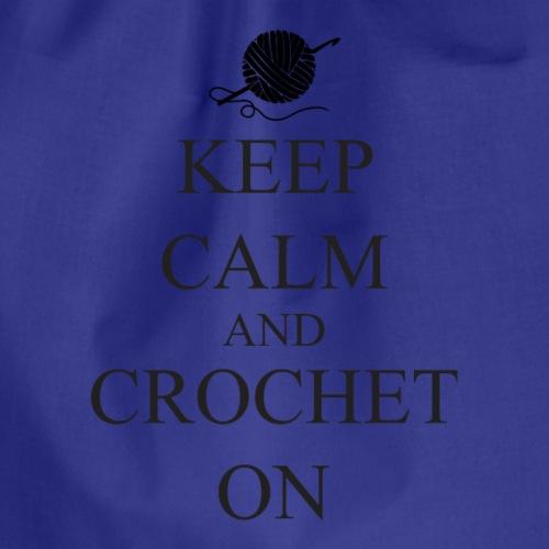 Keep Calm Crochet on - Gymtas