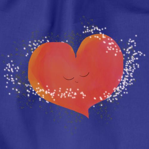 Blozend hartje kinder baby shirt - Gymtas