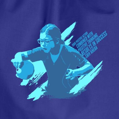 Seien Sie positiv zum Erfolg, Tischtennis-Hemd - Turnbeutel