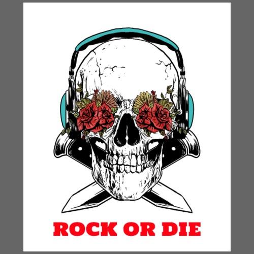 Cool Skull Rock or Die - Sac de sport léger