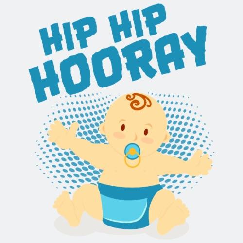 Hip Hip Hooray Baby Boy - Body, T-Shirt, Kissen .. - Turnbeutel