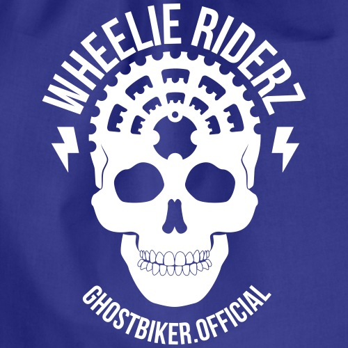 GHOSTBIKER OFFICIAL WHITE - Turnbeutel