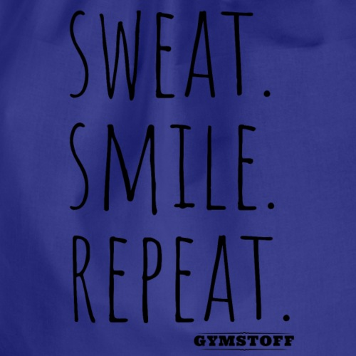 sweat.smile.repat. - Turnbeutel