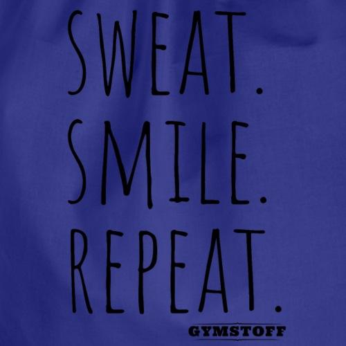 sweat.smile.repat. - Turnbeutel