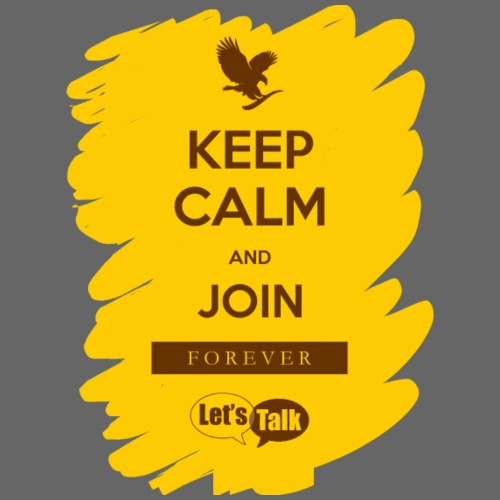 Keep Calm an join Forever yellow - Turnbeutel