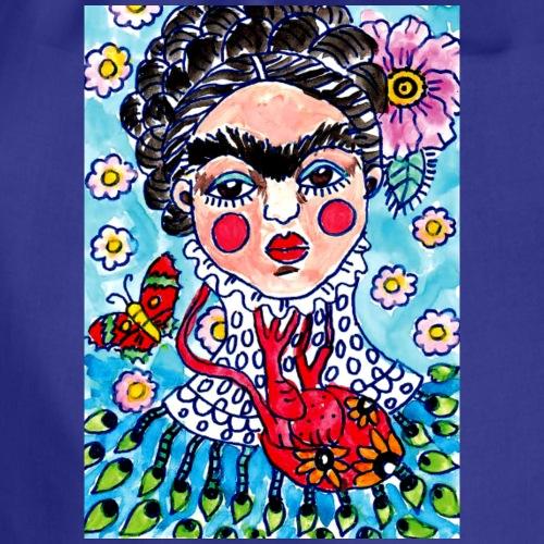 Arte & Pulsion - Frida AzuL - Mochila saco
