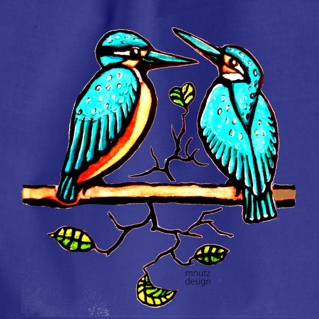Eisvogel Paar farbe