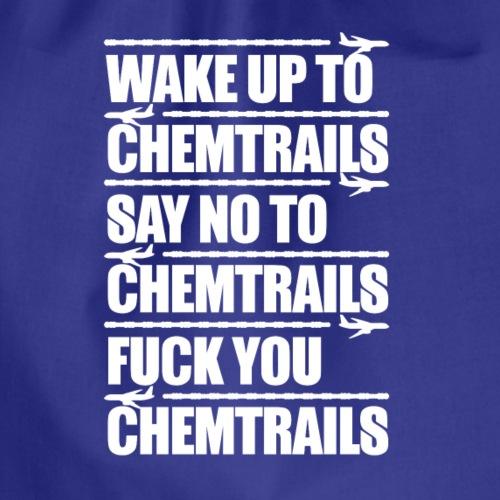 Say No to Chemtrails - Drawstring Bag
