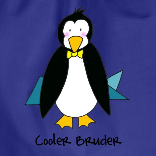 Cooler Bruder - liebevolles Motiv mit Pinguin - Turnbeutel