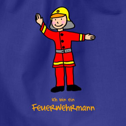 Kleiner Feuerwehrmann in roter Uniform - Turnbeutel
